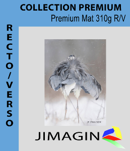 Papier  photo premium mat 310g/m²  recto verso HW